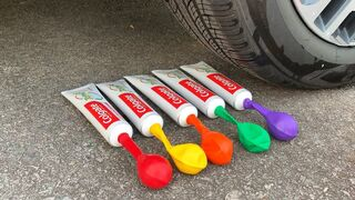 Experiment Car vs Toothpaste vs Balloons | Crushing Crunchy & Soft Things by Car | Test S