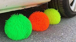 Experiment Car vs Doodles Ball, Water Balloons | Crushing Crunchy & Soft Things by Car | Test S