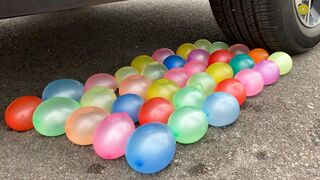Experiment Car vs Water Balloons vs Cola vs Mentos | Crushing Crunchy & Soft Things by Car | Test S