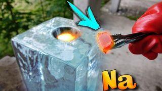 EXPERIMENT: SODIUM VS GIANT BLOCK OF ICE