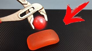 EXPERIMENT Glowing 1000 degree Metal Ball vs Soap!
