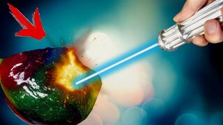WHAT IF TO BURN SLIME WITH A POWERFUL LIGHTSABER LASER ?!
