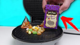 Crazy Harry Potter Candy VS Waffle Iron!! Disgusting Smell !!!