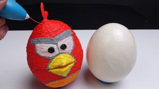 3D Pen: MAKING THE ANGRY BIRDS RED CASE FOR AN OSTRICH EGG
