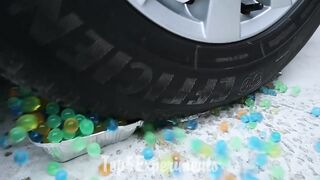 EXPERIMENT Car vs Water Balloons | Crushing Crunchy & Soft Things by Car!