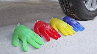 EXPERIMENT: GLOVE Orbeez VS CAR | Crushing Crunchy & Soft Things by Car!