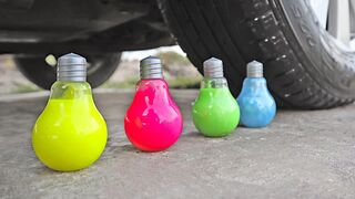 Crushing Crunchy & Soft Things by Car! EXPERIMENT: Car vs Coca Cola, Pepsi, Water Balloons & Slime