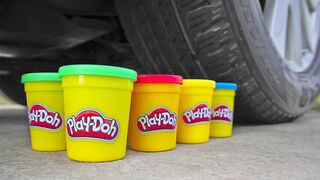 Crushing Crunchy & Soft Things by Car! EXPERIMENT: Car vs Play Doh & Coca Cola Jelly