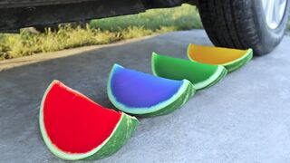 Crushing Crunchy & Soft Things by Car! EXPERIMENT: Car vs Watermelon Jelly