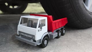 EXPERIMENT: Car vs Toy Truck   Crushing Crunchy & Soft Things by Car!