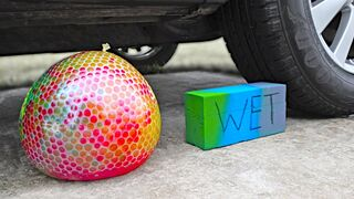 EXPERIMENT: Car vs Floral Foam and Orbeez in Balloons | Crushing Crunchy & Soft Things by Car!