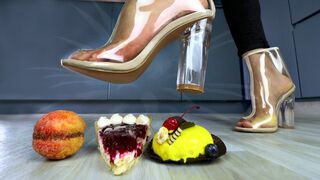 Crushing Crunchy & Soft Things by Shoes. EXPERIMENT: Shoes vs Cake