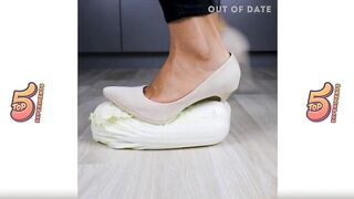 Crushing Crunchy & Soft Things by Shoes. Experiment: Women Shoes vs Slick Toys, Relax Videos