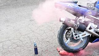 EXPERIMENT SMOKE TUBE in MOTORCYCLE EXHAUST