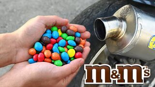 EXPERIMENT M&M IN 100°C MOTORCYCLE EXHAUST