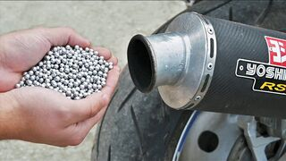 EXPERIMENT METAL AIRSOFT BBs in MOTORCYCLE EXHAUST