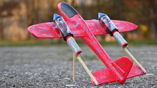 EXPERIMENT ROCKET POWERED PLANE
