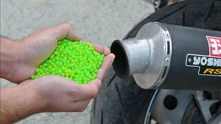 EXPERIMENT 1000 AIRSOFT BBs in MOTORCYCLE EXHAUST