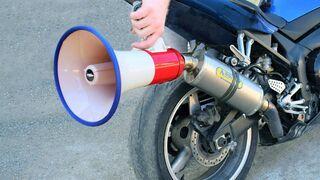 EXPERIMENT MEGAPHONE on MOTORCYCLE EXHAUST