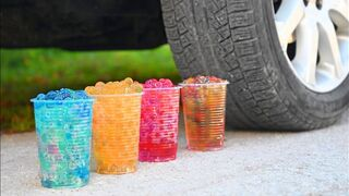 EXPERIMENT CAR vs ORBEEZ Crushing Crunchy & Soft Things by Car!