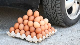 EXPERIMENT Car vs Eggs Crushing Crunchy & Soft Things by Car