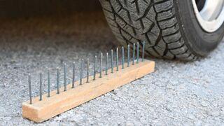 EXPERIMENT Car vs Nails Crushing Crunchy & Soft Things by Car