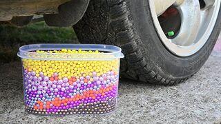 EXPERIMENT Car vs 10000 AIRSOFT BBs Crushing Crunchy & Soft Things by Car