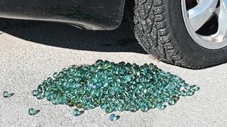 EXPERIMENT Car vs 1000 Marbles Crushing Crunchy & Soft Things by Car