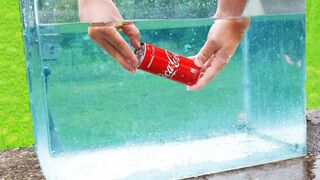 EXPERIMENT OPENING COCA COLA CAN UNDERWATER