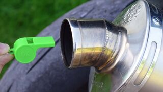 EXPERIMENT WHISTLE ON MOTORCYCLE EXHAUST