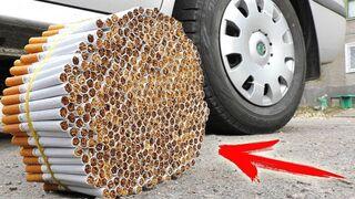 Crushing CIGARETTES By CAR! Coca Cola, Fanta, Sprite Vs CAR!