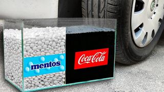 Crushing Crunchy & Soft Things by Car! Experiment: Coca Cola and Mentos vs Car