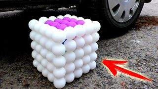 EXPERIMENT: CAR VS GIANT PING PONG CUBE