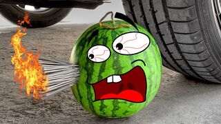 Experiment Car vs Watermelon,M&M Toy,Ice,Jelly | Crushing Crunchy & Soft Things by Car-Woa Doodland
