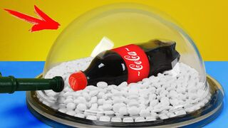 Experiment: Coca Cola and Mentos in a Vacuum Chamber