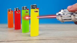 Experiment: Most Powerful Laser Vs Lighters!