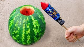 Experiment: Watermelon Vs Rocket