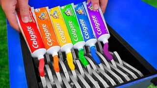 Experiment: Shredding Rainbow Toothpaste!