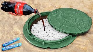 Experiment: Coca Cola Vs Mentos Underground!