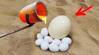 Experiment: Lava Vs Ostrich Egg!