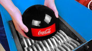 Shredding Machine Vs Giant Coca Cola Ball
