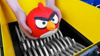 Experiment Shredding Machine Vs Angry Birds!