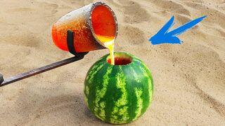 Experiment: Lava Vs Watermelon!