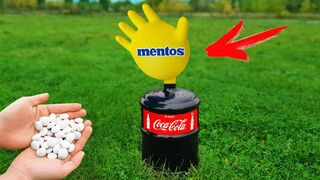 Experiment: Coca Cola and Mentos | 7 Amazing Tests