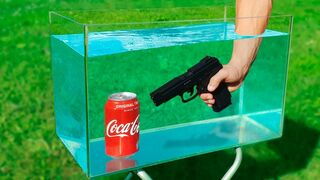 Experiment: Coca Cola and Gun Under Water