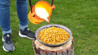Experiment: Lava Vs Popcorn