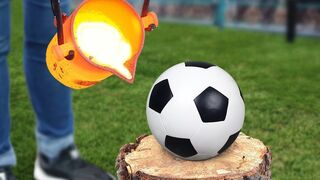 Experiment: Lava Vs Soccer Ball