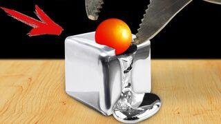 Experiment: Glowing 1000 degree Metal Ball VS Gallium