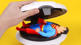 Experiment: Waffle Maker Vs Stretch Superman