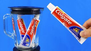 Experiment: Blender Vs Toothpaste